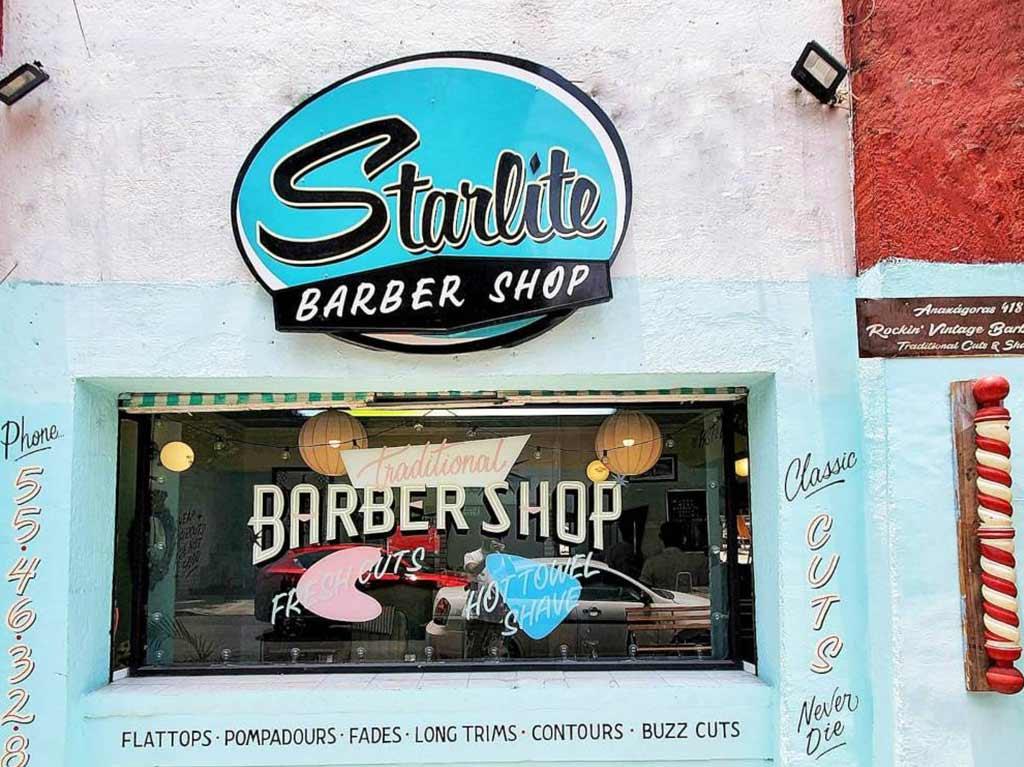 Starlite: la barbería vintage con estilo retro
